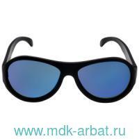Очки солнцезащитные «Черный спецназ» : для детей возраста 6+ с синими линзами : арт. ACE-002 (ТМ «Babiators»)