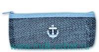 Пенал 20х9х4 «Якорь» на молнии голубой : Арт.46481 (ТМ Феник+)