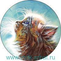 Вышивка крестиком 21х21см «Котенок в мечтах» : арт.VC007 (ТМ Цветной)