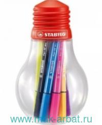 Фломастеры,12цв.«Pen 68min», в пластиковой лампочке. Арт.668/12-061 (ТМ Stabilo)