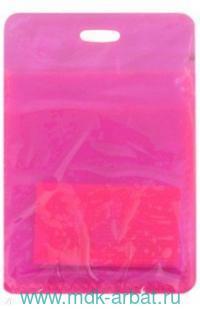 Обложка для проездного «Neon» : материал - пластик, цвет - розовый : арт. ICH006 (ТМ «In Folio»)