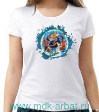 Футболка женская «Алиса.Бег по кругу» : размер 50, цвет - молочный (ТМ «Книжная индустрия»)