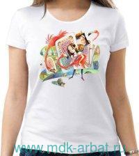 Футболка женская «Алиса. Крокет» : размер 46, цвте - молочный (ТМ «Книжная индустрия»)