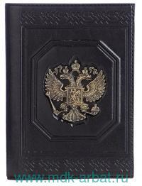 Обложка для документов : материал - натуральная кожа, цвет - черный : арт. 070-09-53А (ТМ «Макей»)