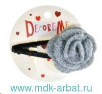 Заколка для волос 8,5см «Цветок вязаный» в ассортименте : арт. 2-718/17 (ТМ «Decore Me»)
