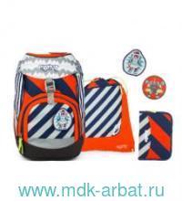Ранец 25x35x22см «Bear2-D2» с наполнением синий/оранжевый : Арт.EBA-SET-001-925 (ТМ Ergobag)