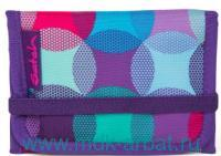 Кошелёк : размер 13х2х8.5см «HurlyPearly» на липучках, цвет -голубой, фиолетовый : арт. SAT-WAL-002-9C0 (ТМ «Satch»)