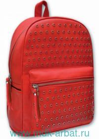 Рюкзак 35х26х16см, красный с люверсами Арт.46057 (ТМ Феникс+)
