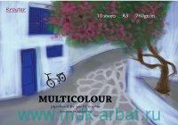 Альбом для рисования пастелью формата А3, 10 листов плотностью 760 г/м2 «Multicolour», брошюровка - склейка  : арт.693943/07675 (ТМ «Kroyter»)