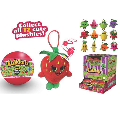 Игрушка мягкая 7 см «Cukoons Фрукт» пластиковый шар, в ассортименте : Арт.SP0005 (ТМ AB toys)