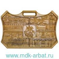 Нарды «Москва» 40х60 из массива мореного дуба : Арт.RTN-0Moscow.M (ТМ Ровертайм)