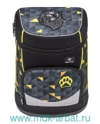 Ранец 36х24х17см «Jaguar» черно-желтый : Арт.405-43/6S7 (ТМ Belmil)