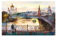 Открытка аквар.А6«Москва вечерняя» Арт.pm241