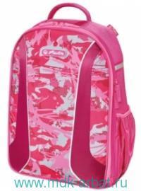 Рюкзак «be bag AIRGO Camouflage Girl», розовый. Арт.50015092 (ТМ Herlitz)