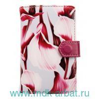 Визитница «Joy» на кнопке : цвет - розовый : арт. IVZ019/pink (ТМ «In Folio»)