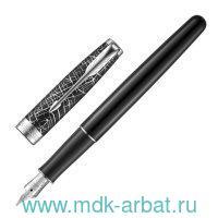 Ручка перьевая чёрная «Sonnet Challenge CT», корпус черный лаковый, палладиевые детали : Арт.2054822 (ТМ Parker)