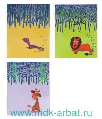 Тетрадь А5 48 листов, клетка «Кто из лесу вышел» скрепка, в ассортименте : Арт.M-1860548N (ТМ Marker)