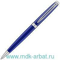 Ручка шариковая автоматическая «Hemisphere Bright Blue» : глянцевый синий корпус, оттенок - металлик, хромированные детали : арт. 2042968 (ТМ «Waterman»)