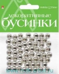 Бусины 8мм «Серебро» блистер : артикул 2-371/08 (ТМ Альт)
