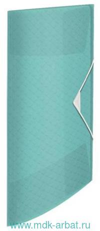 Папка А4«Colour'Ice»3 клапана на резинке голубая : арт. 626222/908385 (ТМ Esselte)