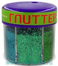 Глиттер для декора №4 с дозатором, вес - 60г, 6 цветов, в блистере : арт.2-311/04 (ТМ «Hobby Time»)