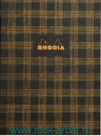 Книга для записей В5 32л. клетка «Heritage tartan black» : Арт.117133 (ТМ Rhodia)