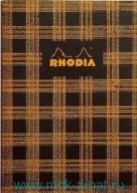Книга для записей А5 32л.клетка «Heritage tartan black» : Арт.117283 (ТМ RHODIA)