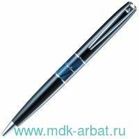 Ручка шариковая «Libra» корпус хром латунь, цвет черный : Арт.PC3400BP-02 (ТМ Pierre Cardin)