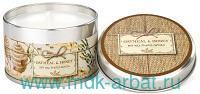 Свеча ароматическая «Овсянка и Мед» : размер 7х5 см в жестяной баночке : арт. CANT316 (ТМ «Michel Design Works»)