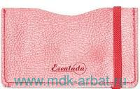 Чехол для пластиковых карт : размер 65х108мм, материал - кожезаменитель, цвет - красный : арт. 48387 (ТМ «Escalada»)