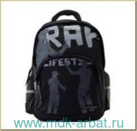 Рюкзак 30х38х20см «Rap-моя жизнь» черный. Артикул 12-002-095/01 (ТМ Bruno Visconti)