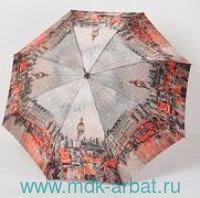 Зонт женский «Zest» : 3 сложения : механизм раскрытия - автоматический, материал - сатин : арт. 83744-ZS001A (ТМ «Zest»)