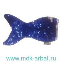 Пенал 24х14.6 «Хвост Русалки» на молнии, синий : Арт.48598 (ТМ Феникс+)