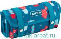 Пенал 21х9х5см «Кактусы» 3 отделения, на молнии, с кнопками : Арт.K19-634-2 (ТМ Kite)