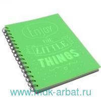 Тетрадь 80 листов клетка «Light Book» спираль зеленый : Арт.ТПЛБ58047 (ТМ Paper Art)
