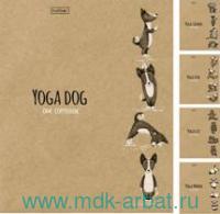 Тетрадь 48 литсов клетка «Animals Yoga» крафт скрепка в ассортименте : Арт.48Т5В1/ 056512 (ТМ Hatber)