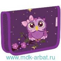 Пенал 14х20х4см «OWL» на молнии фиолетовый : арт.335-72/718 (ТМ Belmil)
