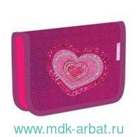 Пенал 14х20х4см «Love 4ever» на молнии розовый : Арт.335-72/721 (ТМ Belmir)