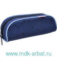 Пенал 14х20х4см «Style» на молнии, темно синий : Арт.335-72/726 (ТМ Belmil)