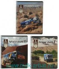Тетрадь 80 листов клетка «Dakar» спираль : Арт.DK26/3