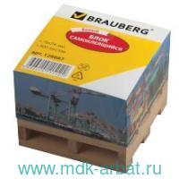 Блок самоклеящийся 76х76мм 400 листов на подставке, белый : Арт.126687 (ТМ BRAUBERG)