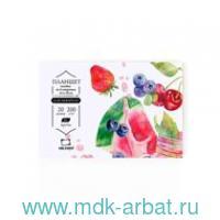 Склейка для акварели А6 20 листов «Sweet dreams.fin» : арт.401447 (ТМ Malevich)