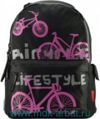 Рюкзак «Велосипеды 2» черный. Арт.12-003-062/01 (ТМ Bruno Visconti)