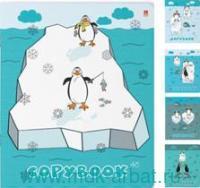 Тетрадь 48 листов клетка «Приключения пингвинов» скрепка в ассортименте : Арт.7-48-550 (ТМ Альт)