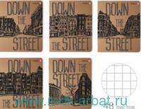 Тетрадь 48 листов клетка «Вниз по улице. Лондон» скрепка : Арт.7-48-911 (ТМ Альт)