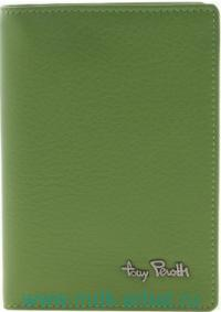 Обложка для документов : материал - кожа, цвет - зеленый : арт.313404/8 (ТМ «Tony Perotti»)