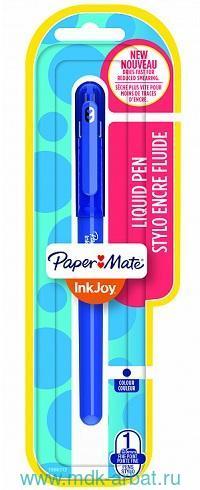 Ручка-роллер «InkJoy Roller» : цвет чернил - синий, толщина пишущего узла - 0.5мм, в блистере : арт. 1986312 (ТМ «Paper Mate»)