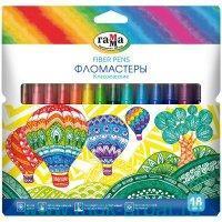 Фломастеры 18 цветов «Классические» смываемые, картонная коробка : Арт.180319_12 (ТМ Гамма)