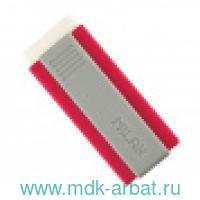 Ластик «Office» пластиковый держатель белый, цвет в ассортименте : Арт.973225 (ТМ Milan)