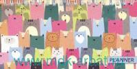 Планинг недатированный «Цветные коты» спираль : арт.50692 (ТМ Феникс+)